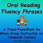 Reading Fluency Phrases- A Timed PowerPoint~ Centers or Wh
