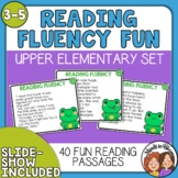 Reading Fluency Task Cards (Upper Elementary)
