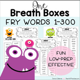 Reading Fluency with One Breath Boxes - Fry Words 1-300