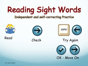 Reading Grade 1 Sight Words - Powerpoint for Independent Practice