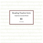 Reading List- Beginning Consonant Blends for bl-