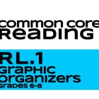 Reading Literature Graphic Organizers RL.1 Grades 6-8