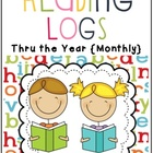 Reading Logs Thru the Year {Monthly}