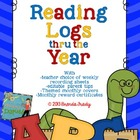 Reading Logs Thru the Year - with Editable Parent Tips!