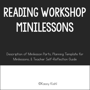 Reading Minilessons to use for Middle School Students in the Reading Workshop