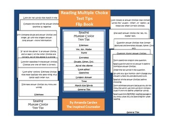Reading Multiple Choice Test Tips for Flipbook