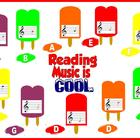 Reading Music is Cool Bulletin Board Kit or Music Workstat