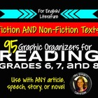 Reading Nonfiction & Fiction Graphic Organizers Grades 6, 7, 8