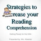 Reading OAA Strategies to Increase Comprehension
