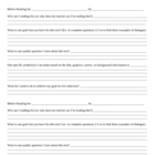 Reading Process Worksheets for Middle Grades