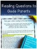 Reading Questions for Parents yay!