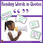 Reading Quotes - Practicing Quotations