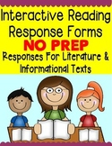 Interactive Reading Response Activities for Reading Journa