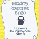 Reading Response Bingo- A Homework Activity