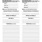4th Grade Common Core Reading Response Bookmarks