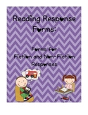 Reading Response Comprehension Forms (K-3): graphic organizers