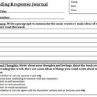 Reading Response Journal Handout