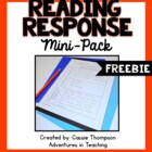 Reading Response Mini Pack- FREEBIE