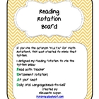 Reading Rotation Bulletin Board