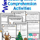 Reading Skills & Comprehension Activities Winter Themed
