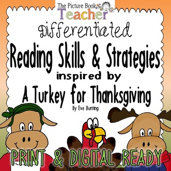 Reading Skills & Strategies Packet inspired by A Turkey for Thanksgiving