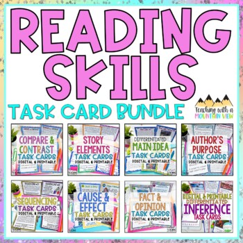 Reading Skills Task Card Bundle *HUGE!* Over 300 Task Cards