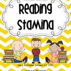 Reading Stamina Graph Poster