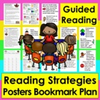 Reading Strategies Bookmark & Large Focus Cards for Guided