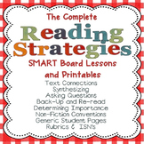 Reading Strategies Lessons and PDF Printables for the SMART Board