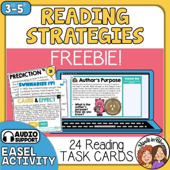 Reading Strategies Task Cards - 24 FREE Paragraph Cards