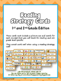 Reading Strategy Cards - 1&2 Grade Chevron Chic