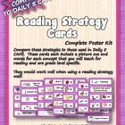 Reading Strategy Cards - Kindergarten  Cupcake Sweetness!