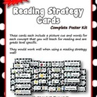 Reading Strategy Cards - Kindergarten  RED Polka Dot Theme