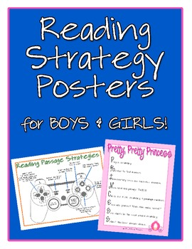 Reading Strategy Posters for Comprehension Passages {Free