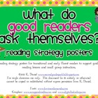 Reading Strategy Posters for Transitional/Early Fluent Readers