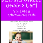 Reading Street  Vocabulary Unit 1 Grade 3