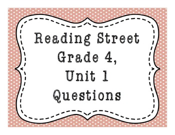 Letters Home From Yosemite Comprehension Quiz Reading Street