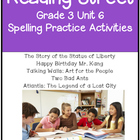 Reading Street Spelling Unit 6 Grade 3