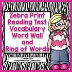 Reading Test Vocabulary Word Wall Set and Ring of Words fo