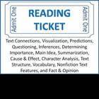 Reading Ticket -Reading Comprehension Skills & Strategies