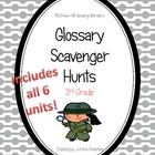 Reading Wonders Common Core Glossary Hunts ALL 6 UNITS Grade 3