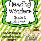 Reading Wonders Resources Grade 2, Unit 1, Week 1