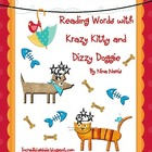 Reading Words with Krazy Kitty and Dizzy Doggie