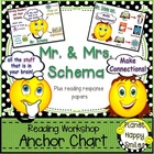 "Reading Workshop Anchor Charts - ""Mr. Schema"" and ""Mrs. Schema"""