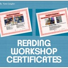 Reading Workshop Certificates for MAC Pages Users - Customizable!