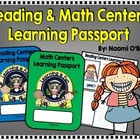 Reading and Math Centers Learning Passport Freebie!