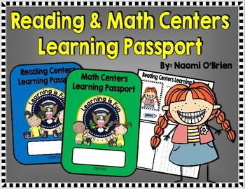 Grab this Reading and Math Centers Learning Passport Freebie!