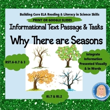 Why There Are Seasons: Common Core Informational Text, Write Informative Text