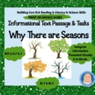Why There Are Seasons: Common Core Informational Text, Wri
