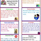 Parent Resource- Reading at Home Activities for Parents